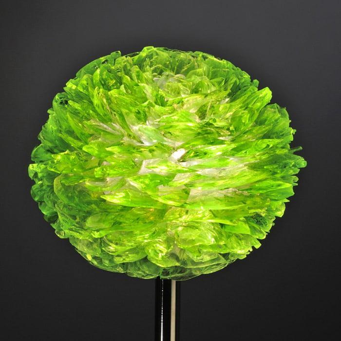 Pétales de verre vert